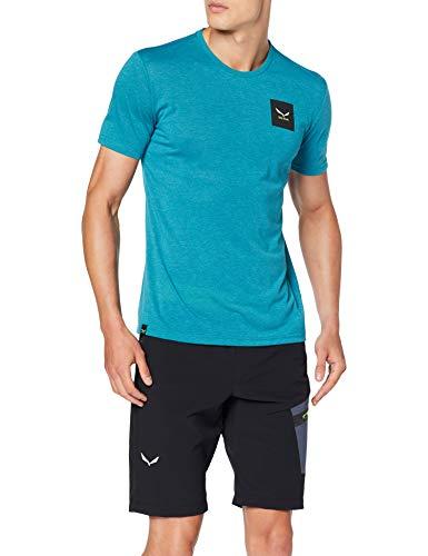 SALEWA Small Box Dri-rel M S/S tee Camiseta, Hombre Talla S