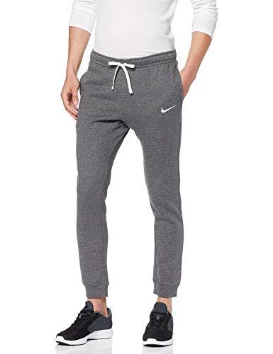 Nike M CFD Pant FLC TM Club19 Sport Trousers, Hombre, Charcoal Heathr/White/(White) talla large.