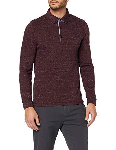 Pierre Cardin Longsleeve Jersey Polo Jacquard Mouliné Effect suéter para Hombre