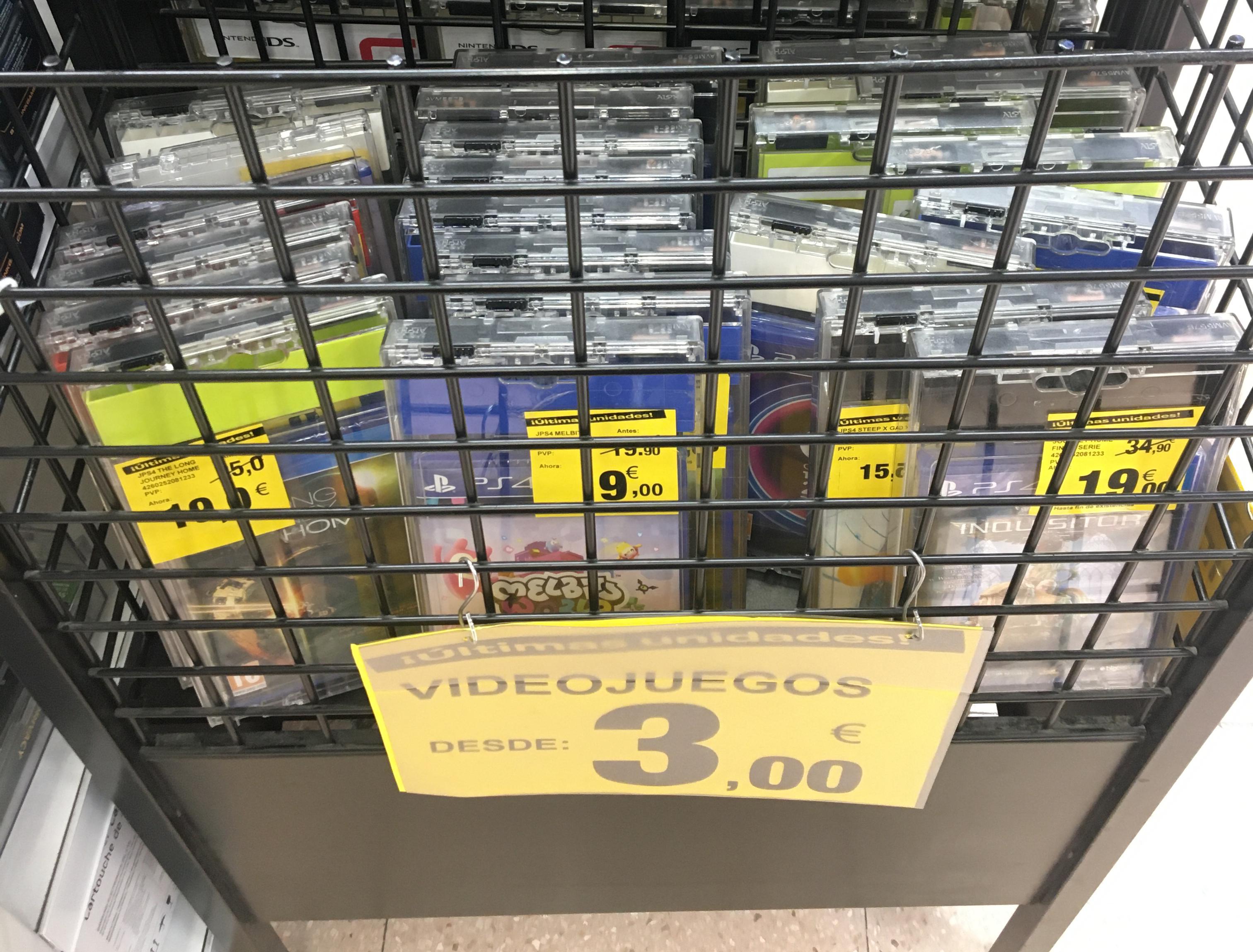 Liquidación juegos PS4 en Carrefour Granada!