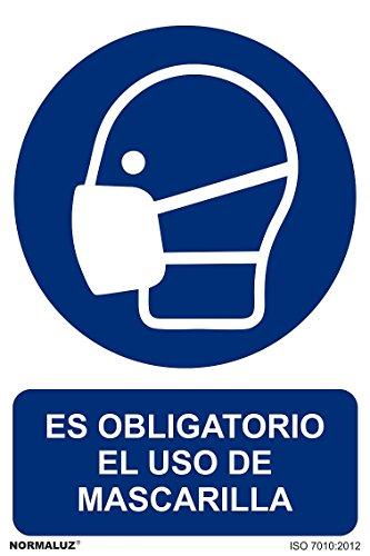 Cartel para obligar el uso de mascarilla por 0,97€