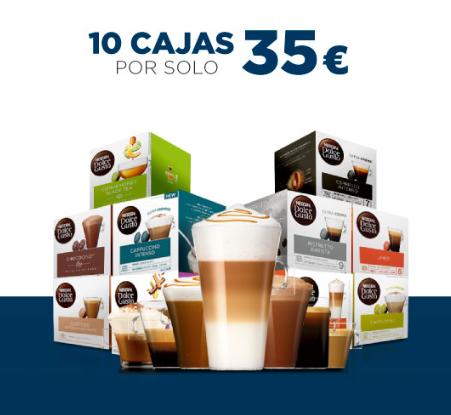 10 Cajas Nescafé Dolce Gusto por 35€