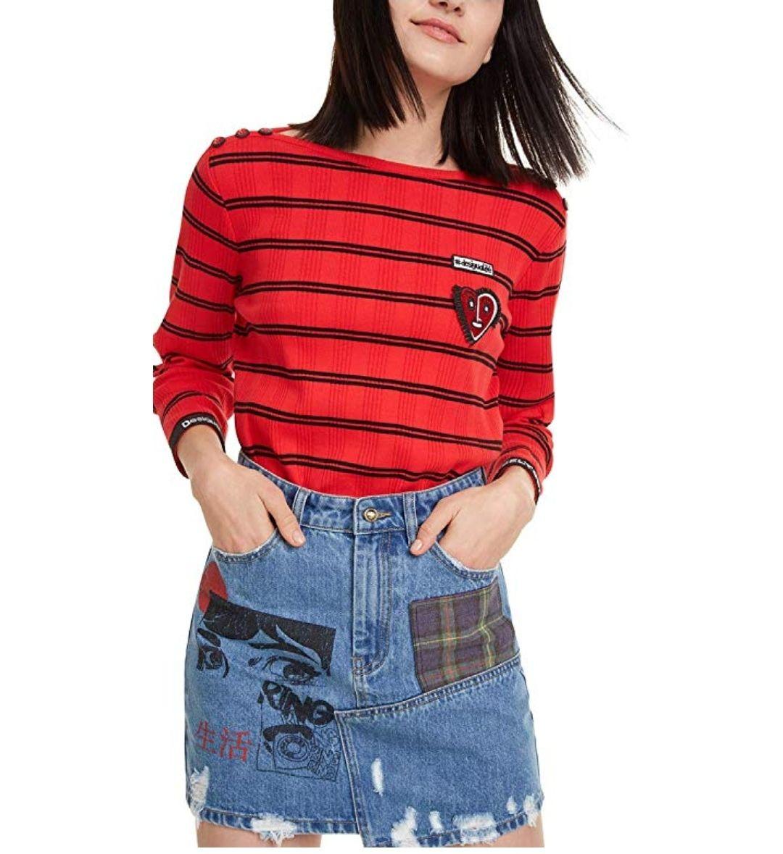 TALLA 34 - Desigual Skirt Comic Falda para Mujer