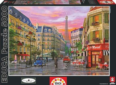 Puzzle 5000 piezas la rue de Paris