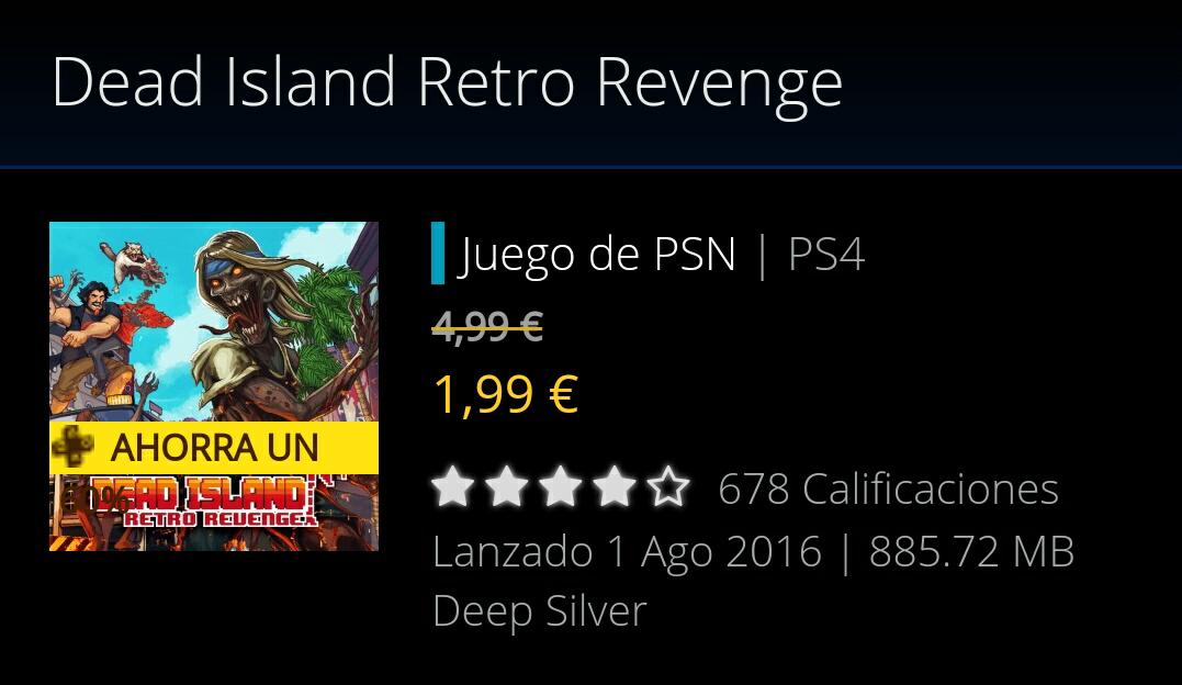 Dead Island Retro Revenge PS4