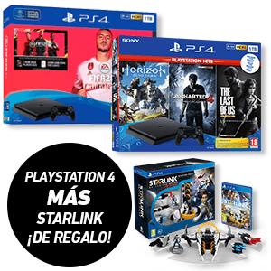 PS4 Slim 1TB [Varios packs a elegir] + Starlink Starter pack de regalo [Y PS4 PRO desde 299€]