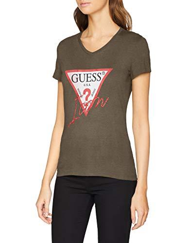 Guess SS Vn Icon tee Camiseta para Mujer talla XS y 2 colores mas por 22€ y 23€ talla L y S.