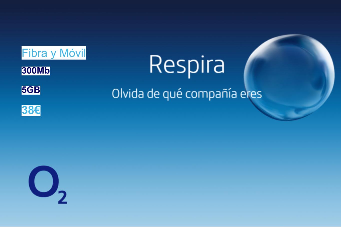 O2 estrena tarifa de fibra a 300 Mbps, fijo y móvil con 5 GB por 38 euros