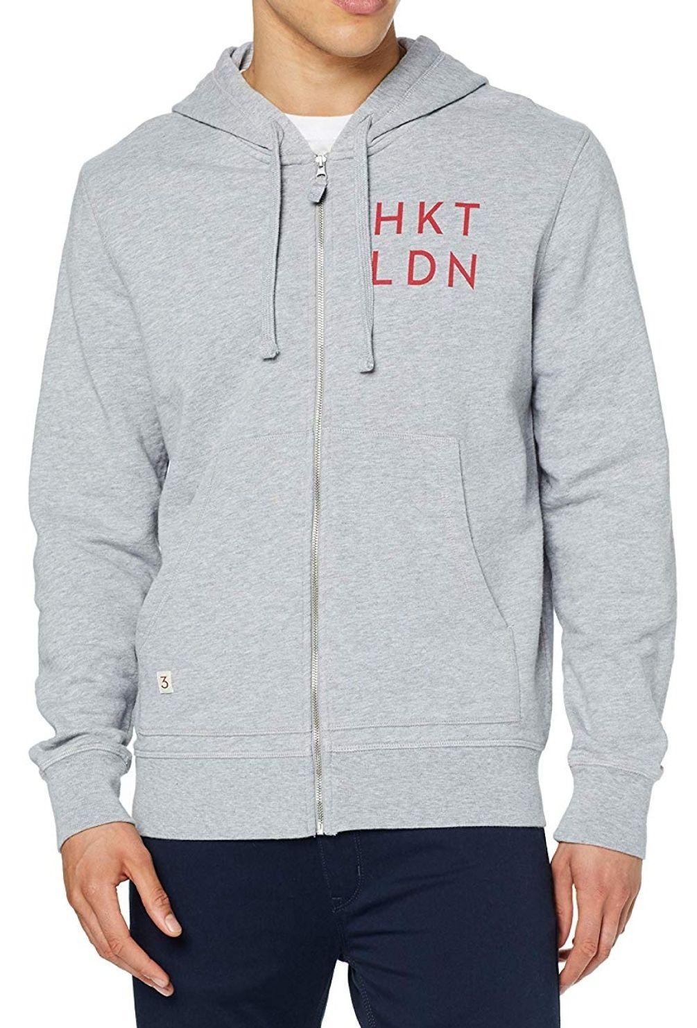 Sudadera HKT capucha gris Talla S