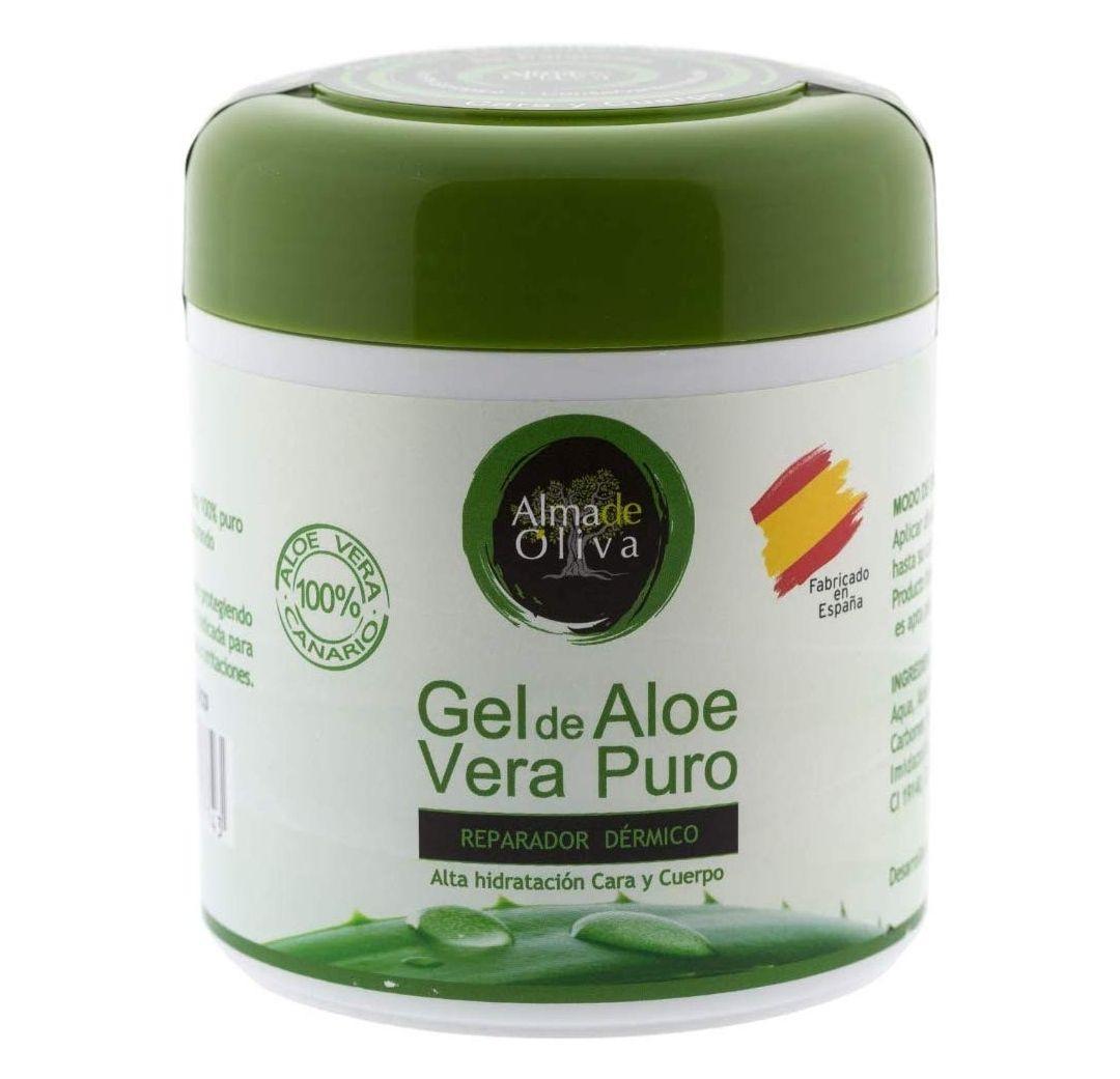 Gel Aloe vera puro 100% de Canarias crema hidratante natural 500 ml para la piel irritada