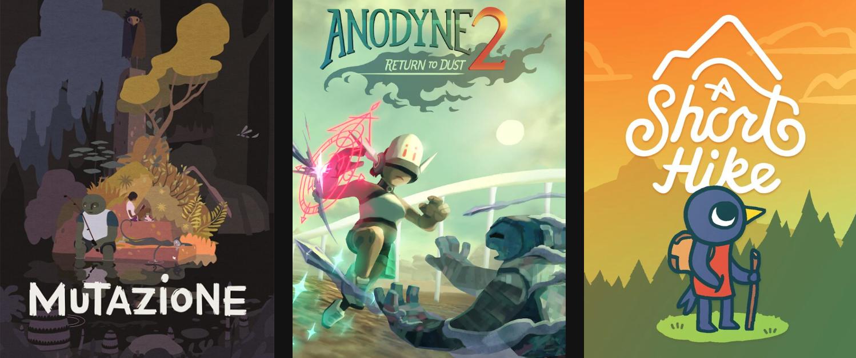 Juegos GRATIS en EpicGames: A Short Hike, Anodyne 2: Return to Dust y Mutazione