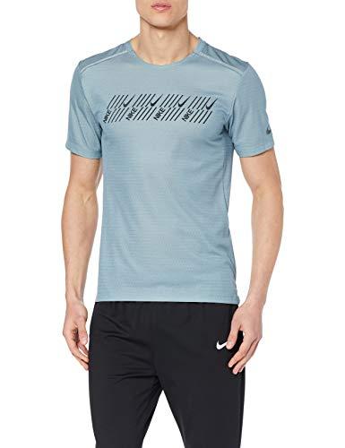 Nike M Nk DF Miler Tech SS Capsule Camiseta de Manga Corta, Hombre en 2 colores en la talla L.