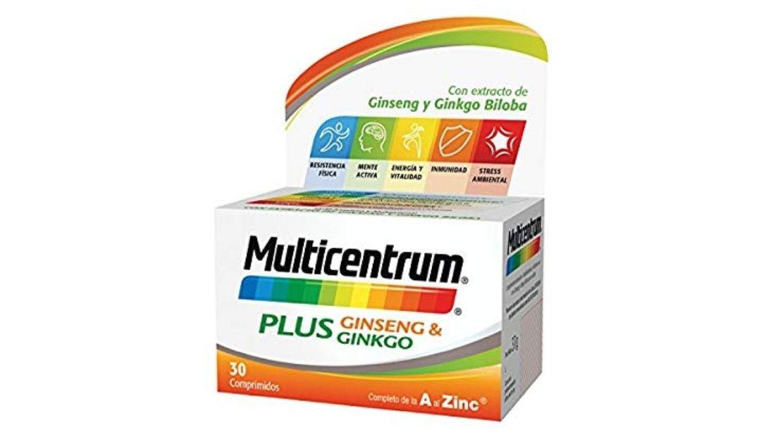 Multicentrum Plus complemento alimenticio con 13 Vitaminas, 8 Minerales, 30 Comprimidos