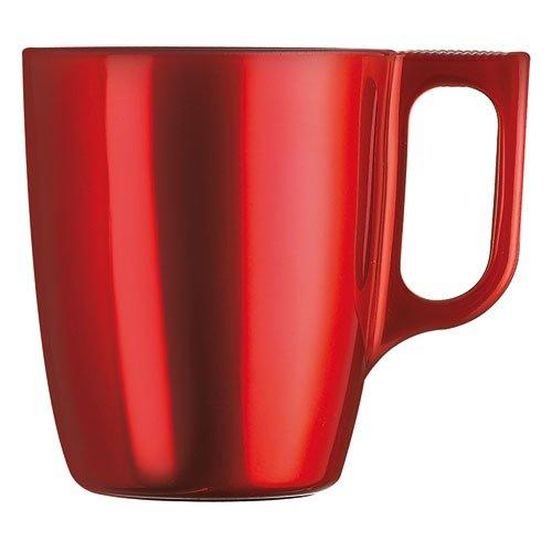 Taza Luminarc 25cl vidrio rojo