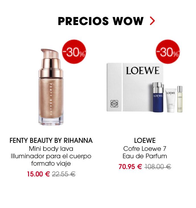 Precios wow en Sephora - Hasta un 60%