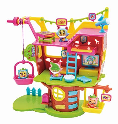 MOJIPOPS - Jueguete Casa del árbol con 2 exclusivas figuras MojiPops y variedad de accesorios