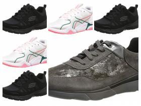 Zapatillas para mujer de las marcas Geox, Puma y Skechers en tallas 35,36,39 y 42.