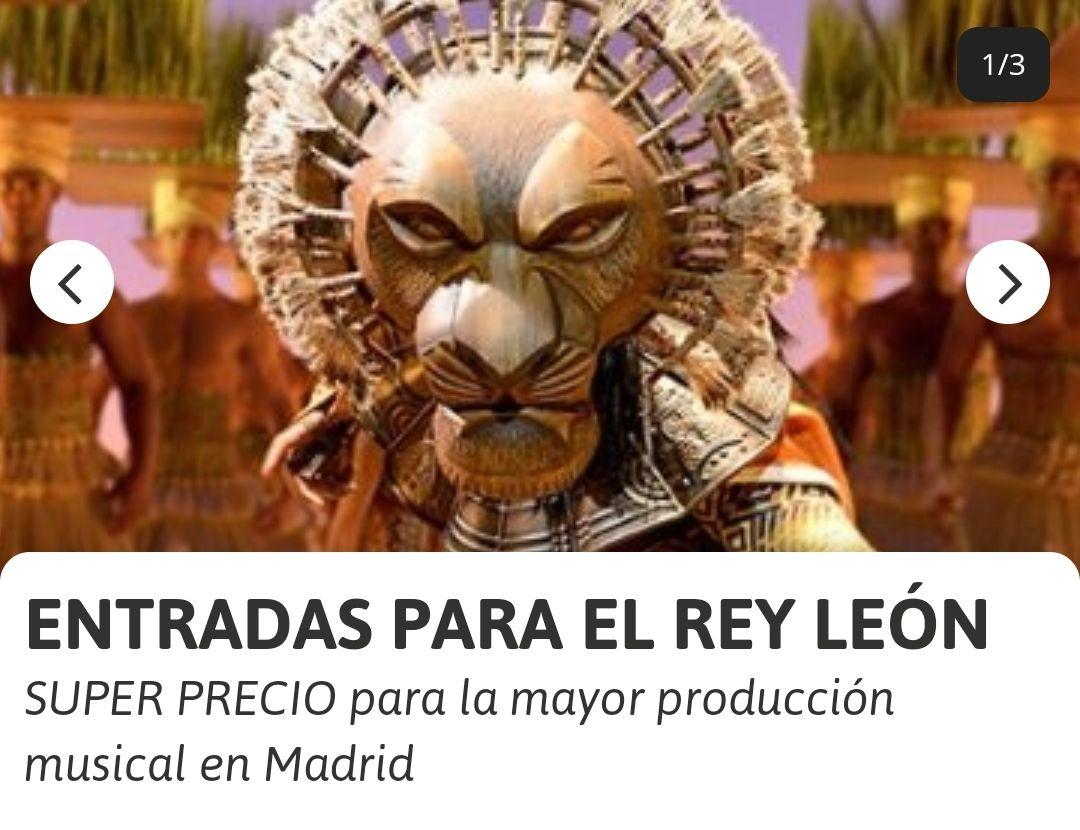 Entradas para el Musical del Rey León (Madrid) desde 29€