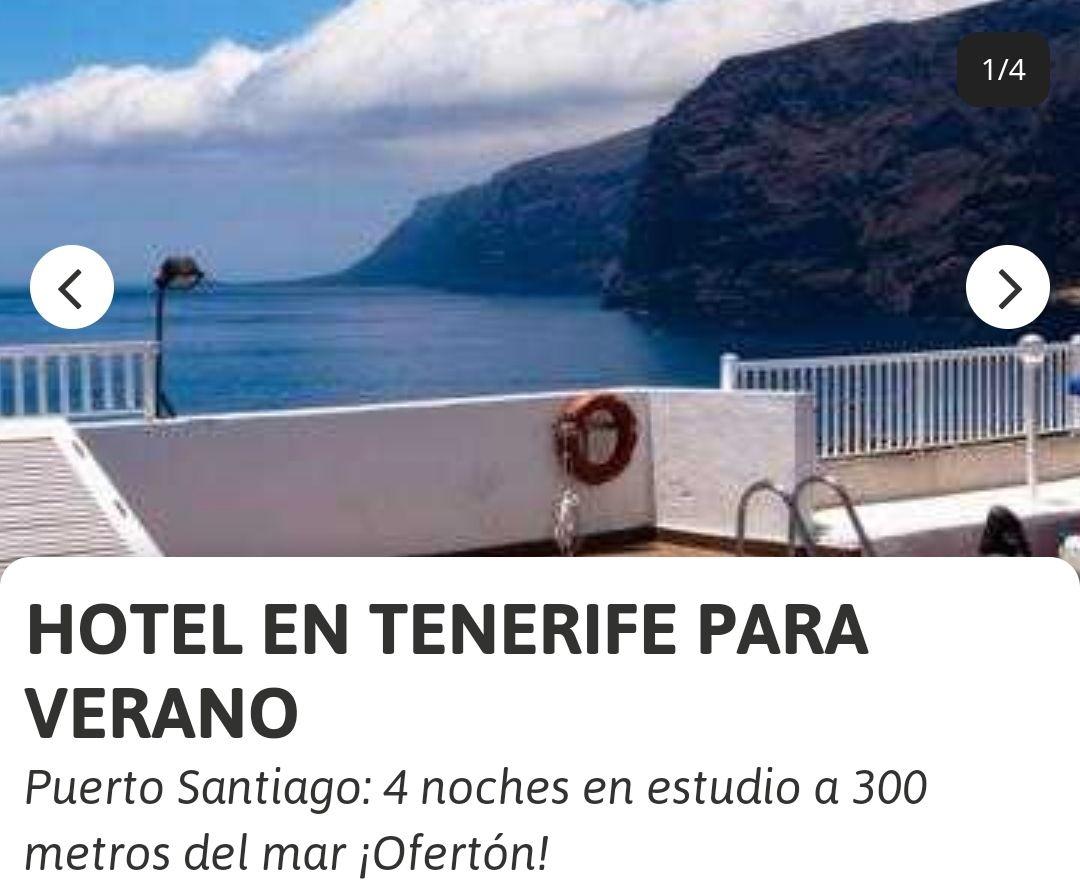 Tenerife (julio) 4 noches piso frente al Mar (Varías fechas)