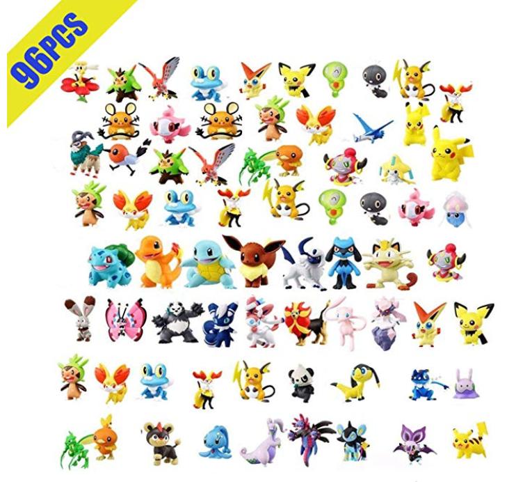Pack de 96 Figuras Pokemon. Oferta Flash