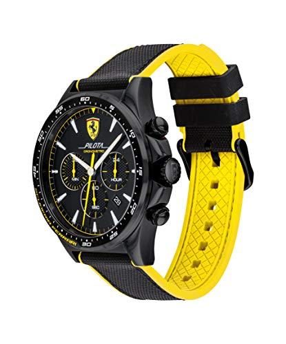 Ferrari - Reloj Analógico Unisex de Cuarzo con Correa en Silicona