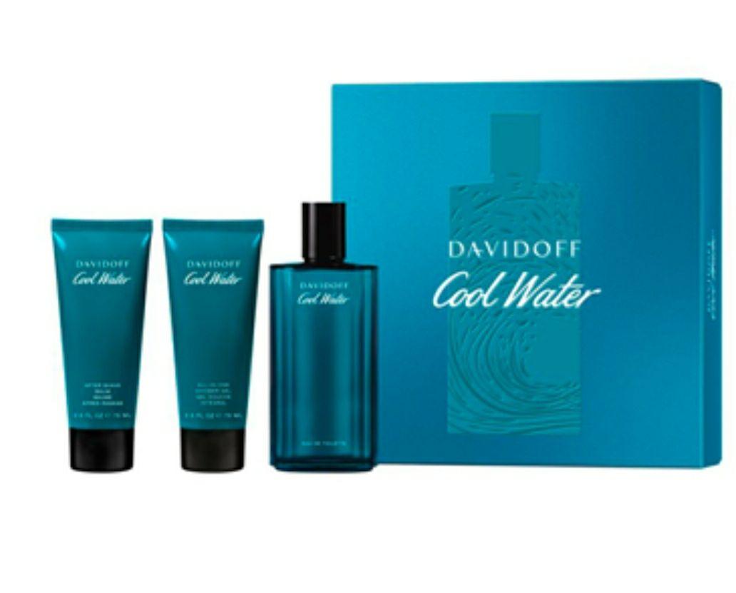 Davidoff COOL WATER Estuche 125 ml Vapoirzador + Bálsamo After Shave 75 ml + Shower Gel 75 ml