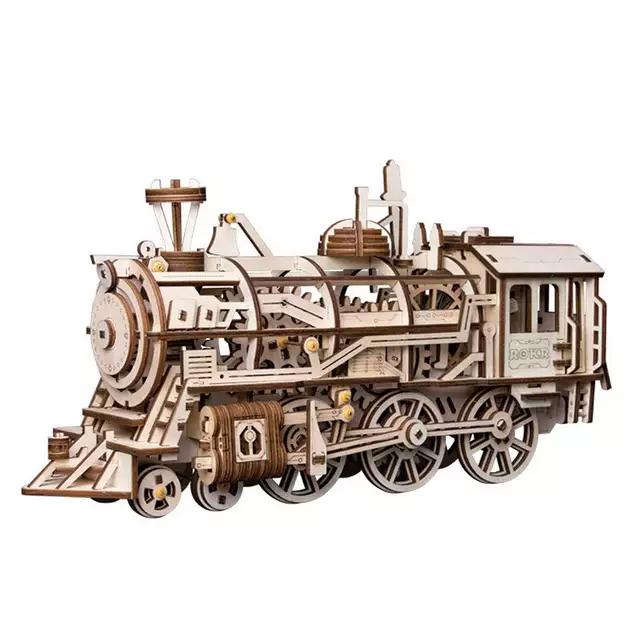 Rompecabezas 3d madera locomotora