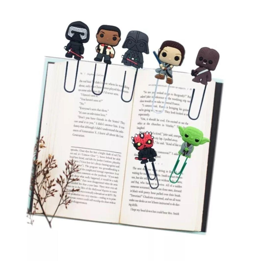 8 unidades Clip de papel/marcador Star Wars