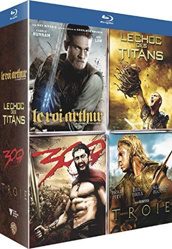 Pack de peliculas: 300, Troya, Furia de titanes y El Rey Arturo