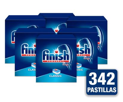 Pack de 342 pastillas para lavavajillas Finish Powerball Classic. Aliplaza