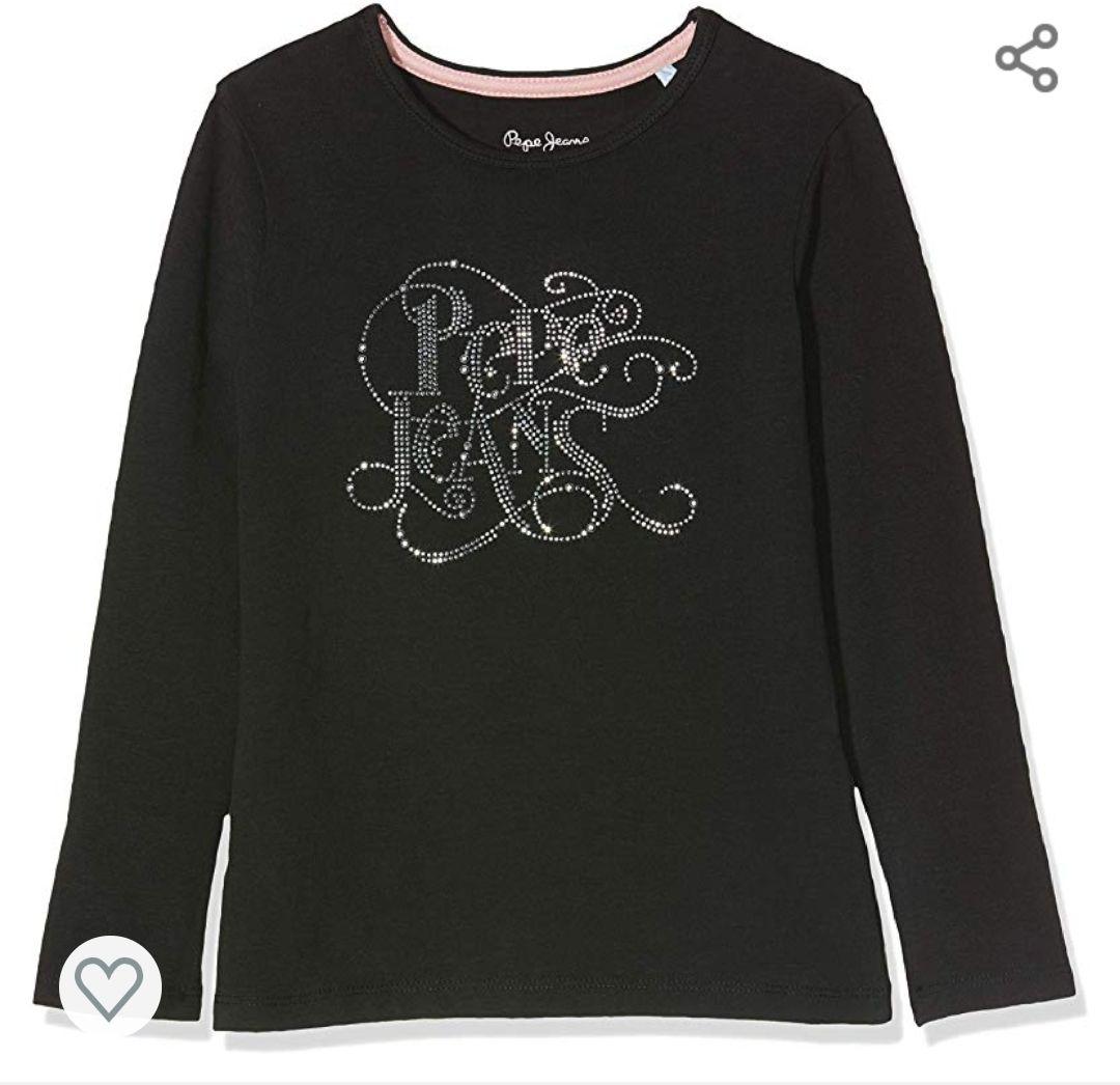 Camiseta pepe jeans, modelo cólor negro t.17-18años