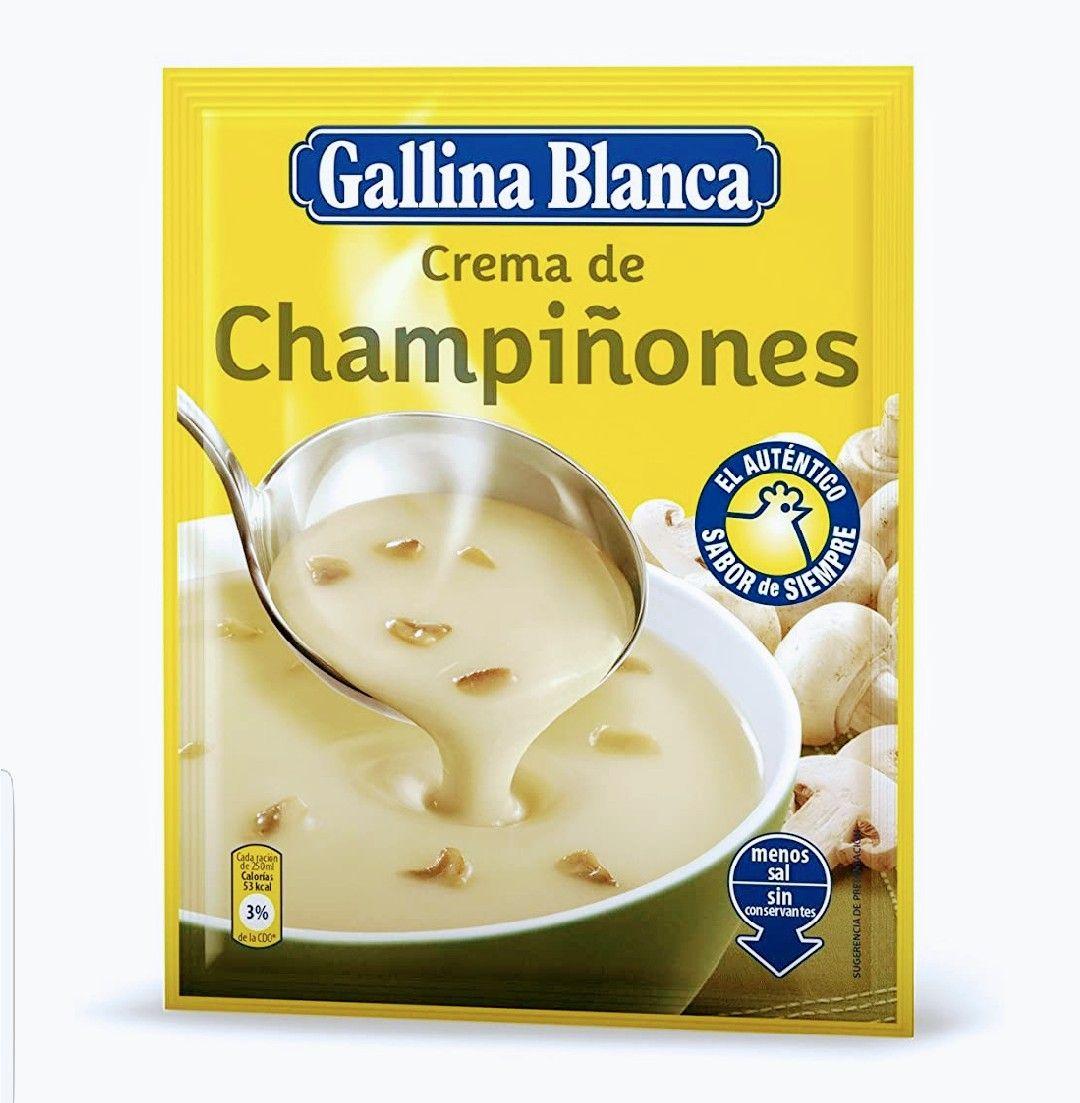 Crema de Champiñones 62gr. Pack-24 Gallina Blanca (0,36€ por sobre)