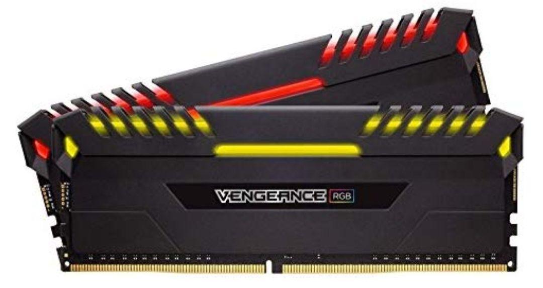 Corsair Vengeance RGB - Kit de memoria de 16 GB (2 x 8 GB, DDR4, 4000 MHz, C19, XMP 2.0)