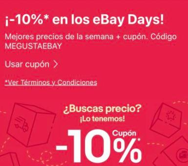 Código descuento 10% eBay - Seleccionados