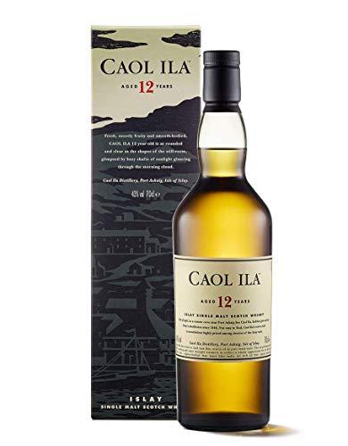 Caol Ila 12 Años Whisky Escocés Puro de Malta de la Isla de Islay - 700 m