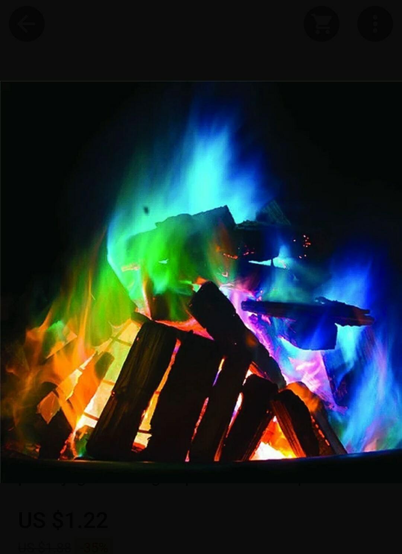 Polvos magicos para fuego