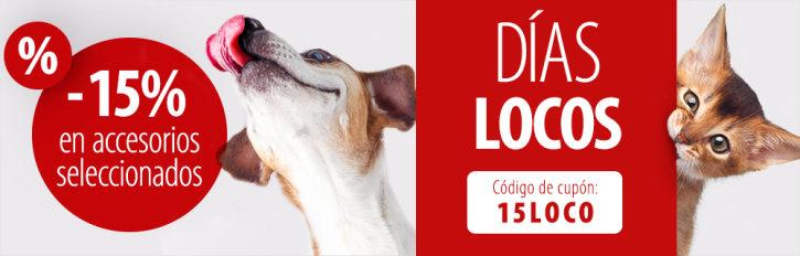 15% de descuento en accesorios para perro y gatos