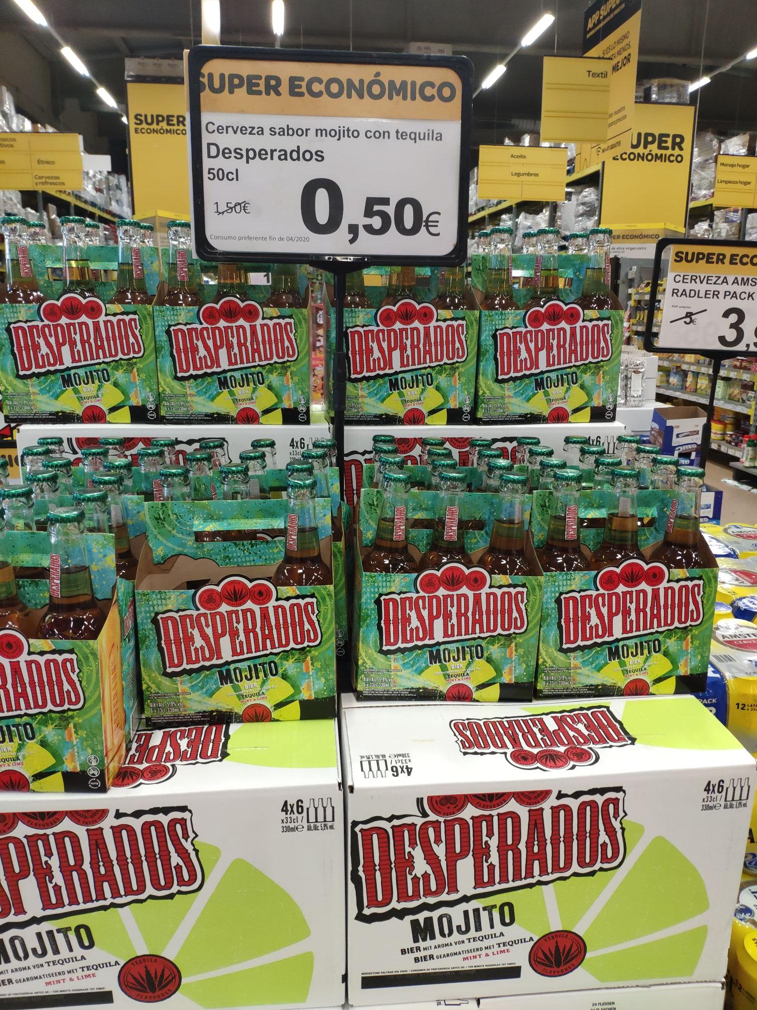 Cerveza Desperados a 0,50 la botella