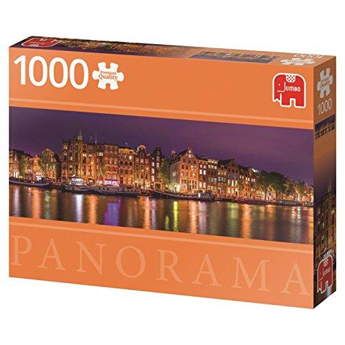 Puzzle 1000 piezas panorámico Amsterdam