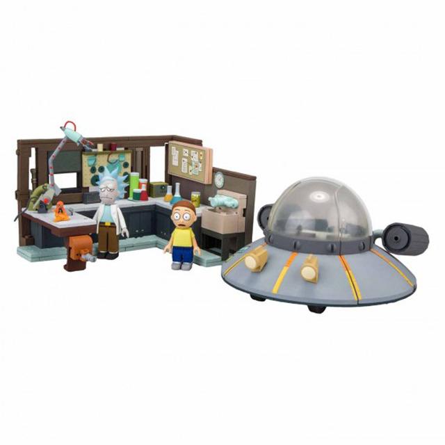 Kit de construcción Rick y Morty - Nave y garaje