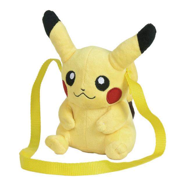 Bandolera Pikachu de peluche, Pokémon. Marca Famosa