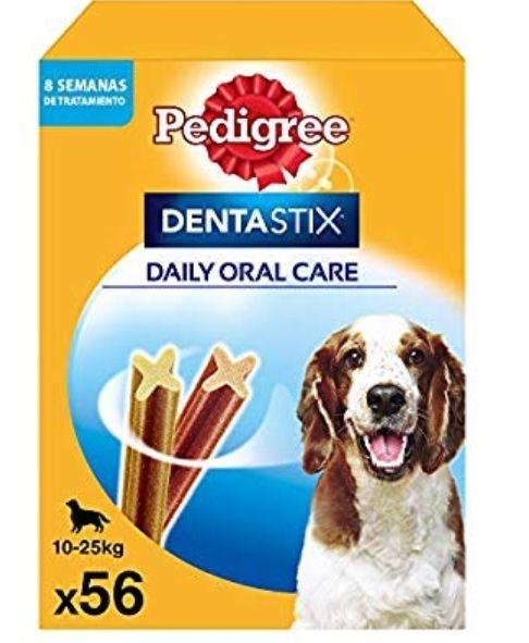 Pedigree Pack de 56 Dentastix de uso diario para la limpieza dental de perros (sólo 0'21€ unidad)