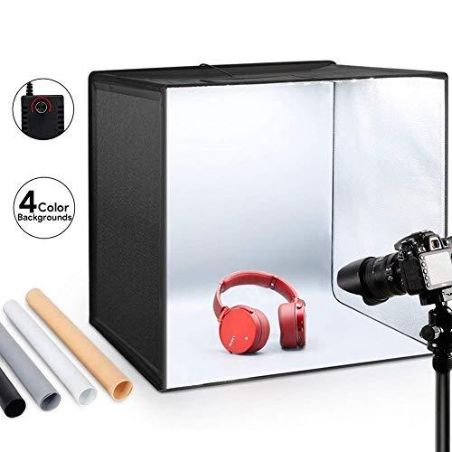 Estudio fotográfico 50x50x50cm con asa y luz Regulable de 120 LED