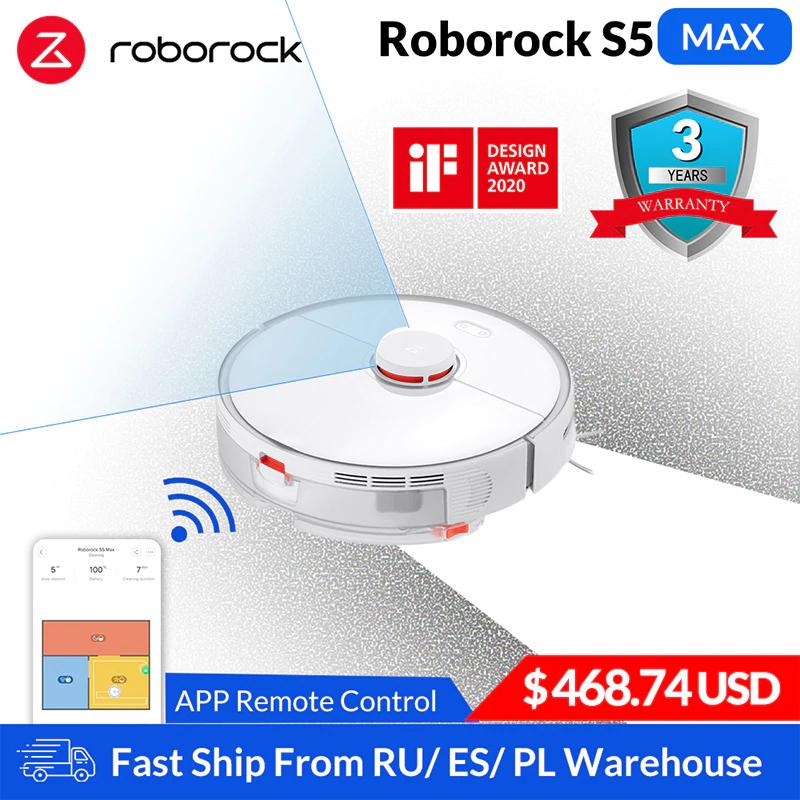 Robot aspirador Roborock S5 Max Xiaomi para barrer el hogar inteligente, limpieza robótica, actualización