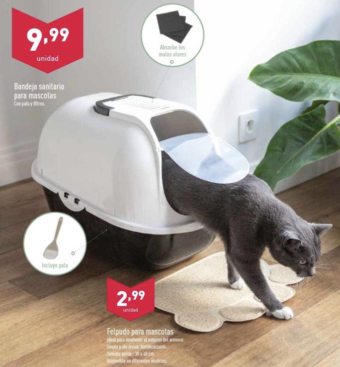 Arenero cubierto para gatos por solo 9,99€ en Aldi