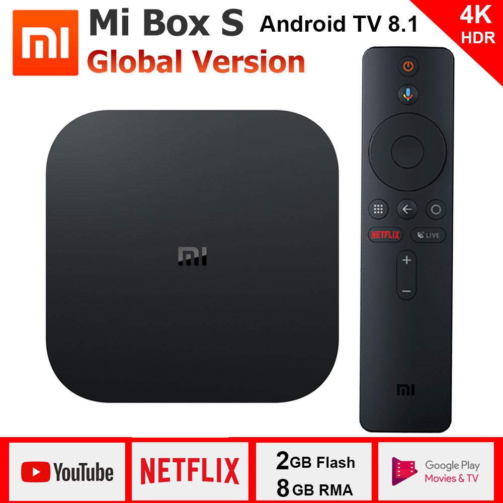 Xiaomi Mi box S, Smart TV Box Android 8,1, 4 K HDR Quad Core 2G 8G - DESDE ESPAÑA