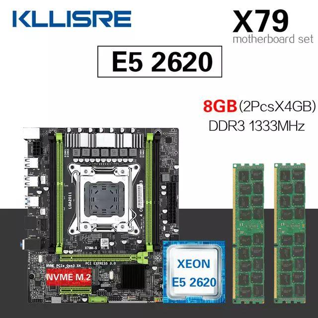 Pack de Placa base con procesador de 6 núcleos ( E5- 2620) y 8 gb de RAM