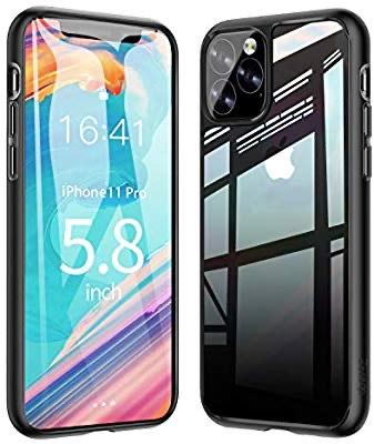 Ztotop Funda para iPhone 11 Pro, Claro 9H Tempered Glass Trasera Cubierta + Soft TPU Bumper (Amazon Prime)