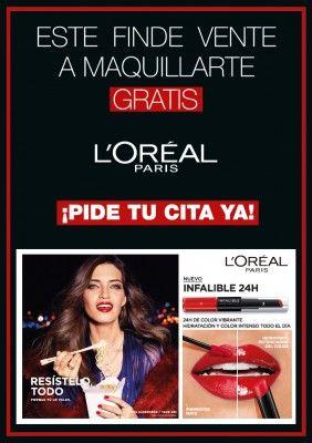 Sesión maquillaje L'Oreal GRATIS