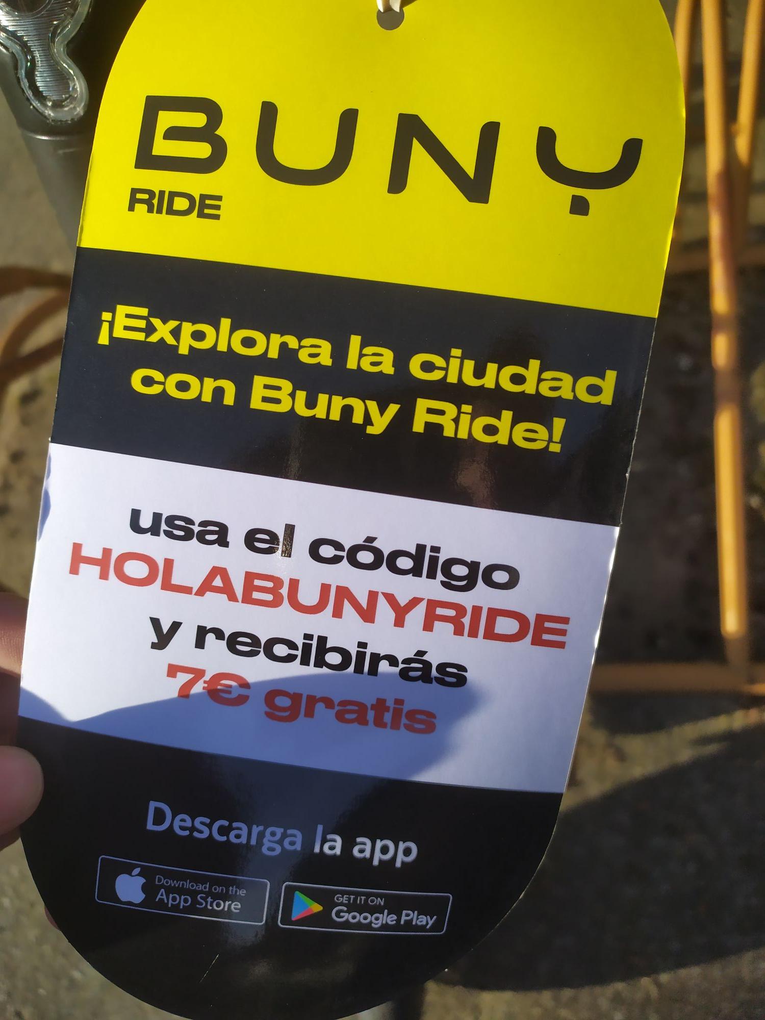 7€+3€+3 desbloqueos gratis en Buny Ride